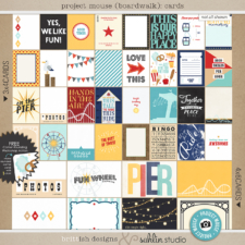 Project Mouse (Boardwalk): Journal Cards by Britt-ish Designs and Sahlin Studio - Perfect for documenting your Project Life and Disney albums!!
