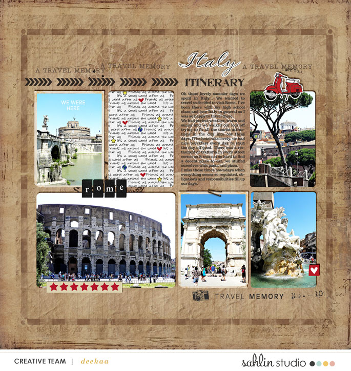digital scrapbooking layout created by deekaa featuring Around the World by Sahlin Studio and Britt-ish Designs