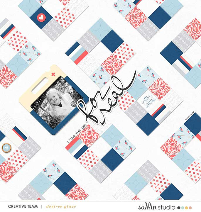 digital scrapbooking layout created by glazefamily3 featuring For Real by Sahlin Studio