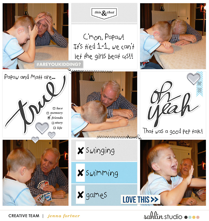 digital scrapbooking layout created by Jenna Fortner featuring For Real by Sahlin Studio