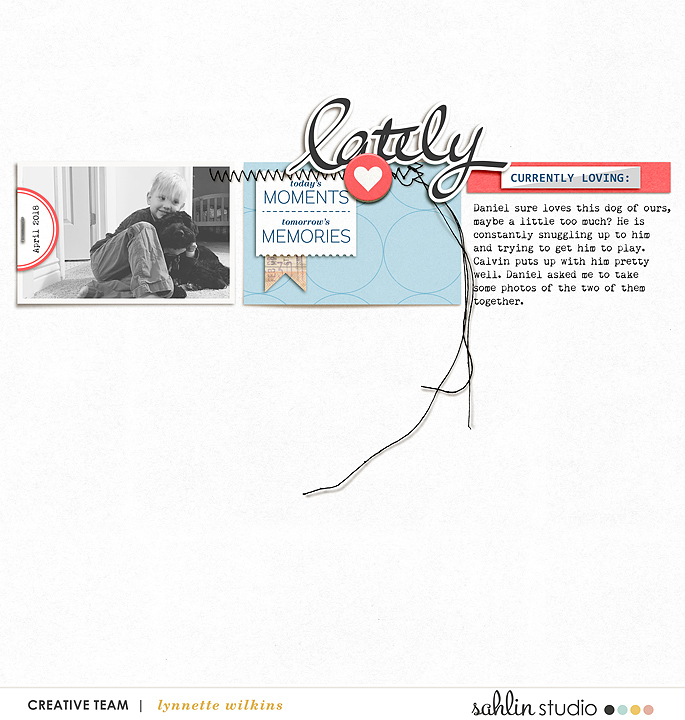 digital scrapbooking layout created by lynnette featuring For Real by Sahlin Studio