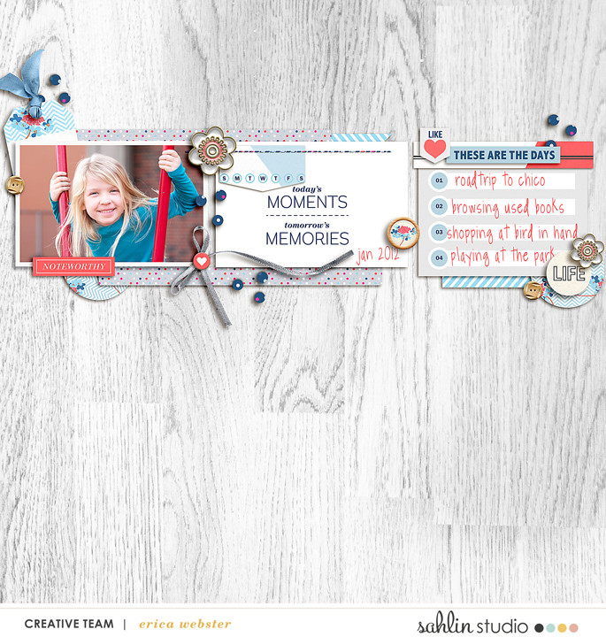 digital scrapbooking layout created by pne123 featuring For Real by Sahlin Studio