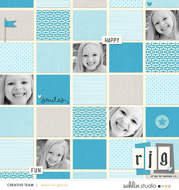 digital scrapbooking layout created by glazefamily3 featuring June 2018 FREE Template by Sahlin Studio