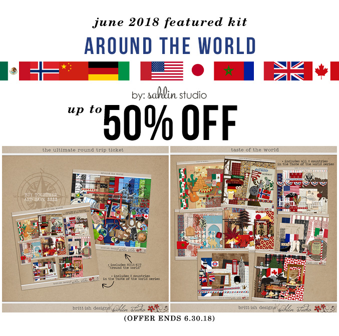 Around the World by Sahlin Studio and Britt-ish Designs