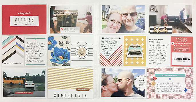 A Layout Featuring The Project Life Stories Value Kit Theresa