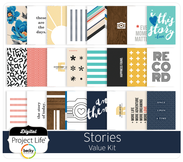 Becky Higgins Project Life Stories Value Kit Digital