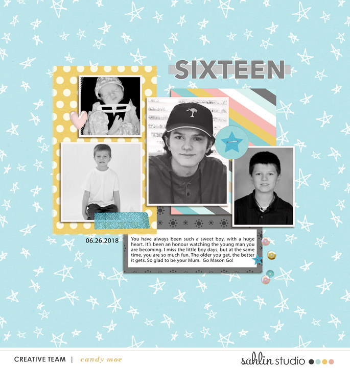 digital scrapbooking layout created by ctmm4 featuring July 2018 FREE Template by Sahlin Studio