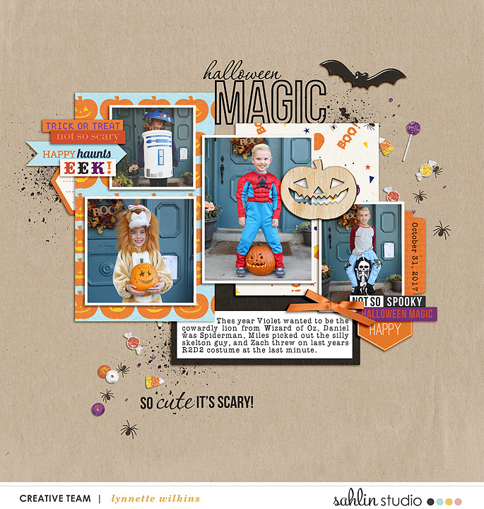 digital scrapbooking layout created by lynnette featuring July 2018 FREE Template by Sahlin Studio