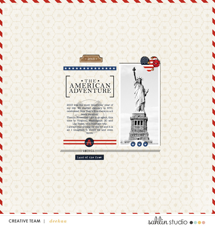 digital scrapbooking layout created by Deekaa featuring Project Mouse (World): America by Sahlin Studio and Britt-ish Designs
