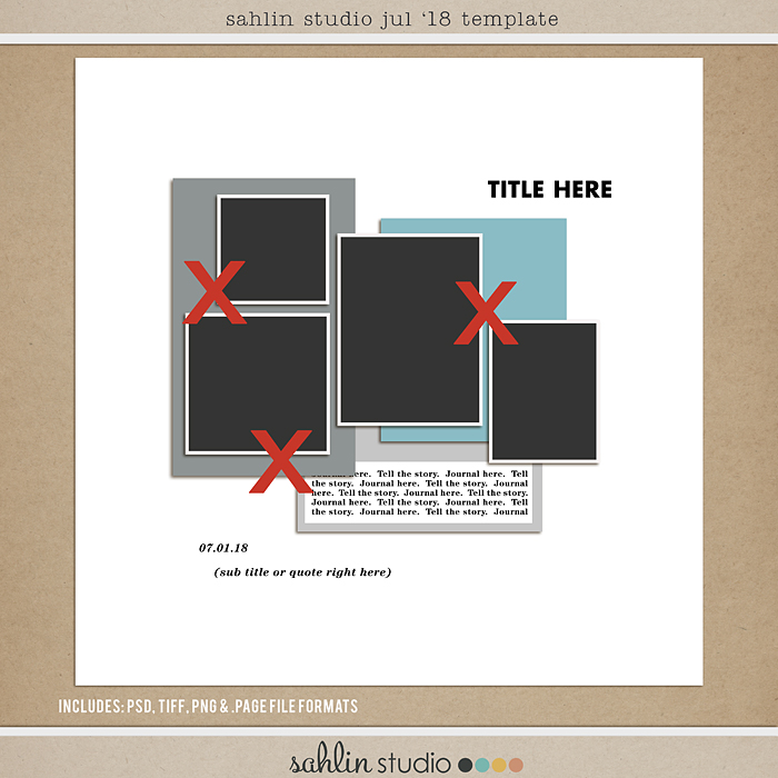 FREE Digital Scrapbooking Template / Sketch – July 2018