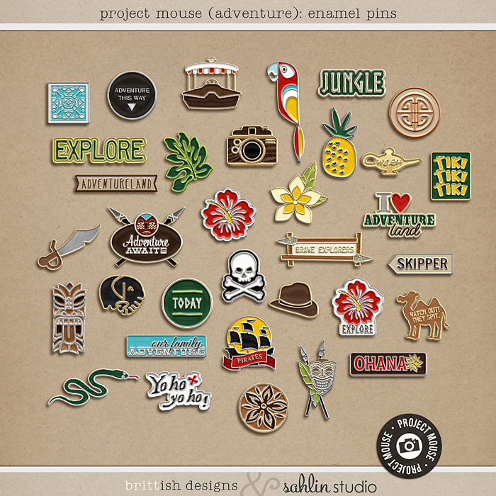 Project Mouse (Adventure): Enamel Pins by Britt-ish Designs and Sahlin Studio