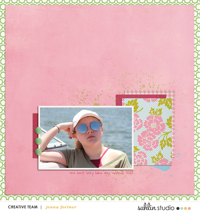 FREE Digital Scrapbooking Template / Sketch – August 2018