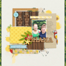 Ohana Disney digital scrapbooking page using Project Mouse (Adventure): Artsy & Pins by Britt-ish Designs and Sahlin Studio