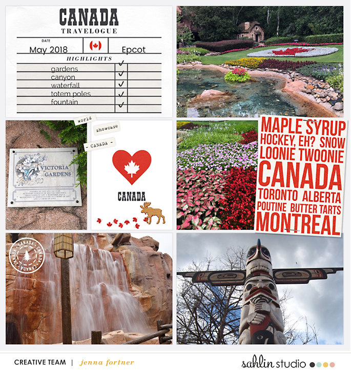 digital scrapbooking layout created by Jenna featuring Project Mouse (World): Canada by Sahlin Studio and Britt-ish Designs