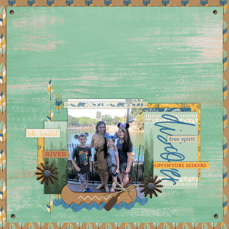 Discover digital scrapbook page Project Mouse (Wilderness) by Britt-ish Designs and Sahlin Studio