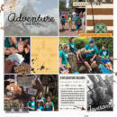 Disney Expedition Everest - Adventure is Out There digital scrapbook Project Life page Project Mouse (Wilderness) by Britt-ish Designs and Sahlin Studio