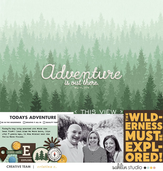 The Wilderness Must be Explored! digital scrapbook page Project Mouse (Wilderness) by Britt-ish Designs and Sahlin Studio