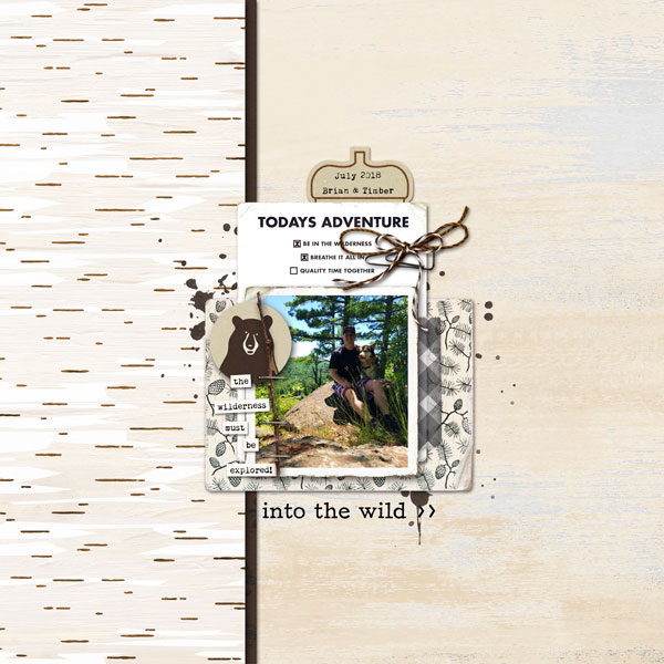 Call of the Wild digital scrapbook page Project Mouse (Wilderness) by Britt-ish Designs and Sahlin Studio