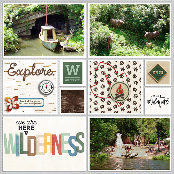 Disney Liberty Square Riverboat digital scrapbook Project Life page Project Mouse (Wilderness) by Britt-ish Designs and Sahlin Studio