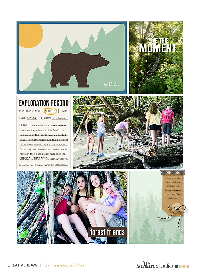 Wild Exploration digital scrapbook Project Life page Project Mouse (Wilderness) by Britt-ish Designs and Sahlin Studio