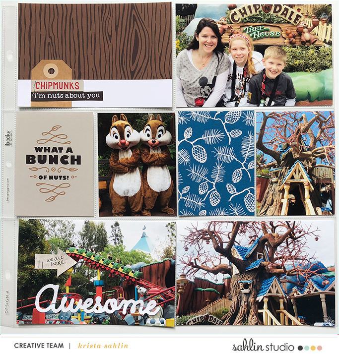 Disney Chip and Dale scrapbook Project Life page Project Mouse (Wilderness) by Britt-ish Designs and Sahlin Studio