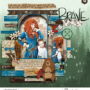Disney Brave Merida digital scrapbook page Project Mouse (Wilderness) by Britt-ish Designs and Sahlin Studio