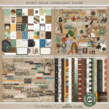 Project Mouse (Wilderness): BUNDLE by Britt-ish Designs and Sahlin Studio - Perfect for scrapbooking your travels in the wilderness camping, At Wilderness Lodge, Merida Brave, Pocahontas or Chip and Dale in your Project Life albums!!