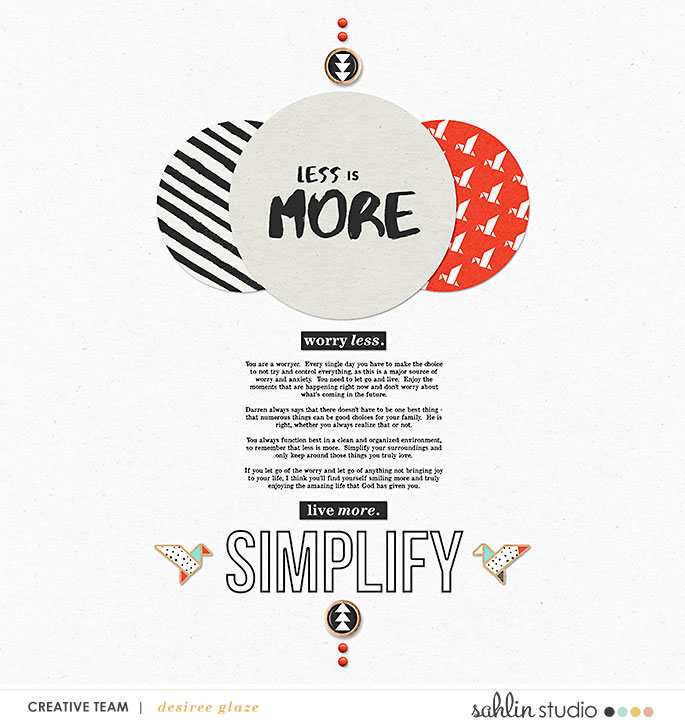 digital scrapbooking layout created by glazefamily3 featuring Simplify by Sahlin Studio