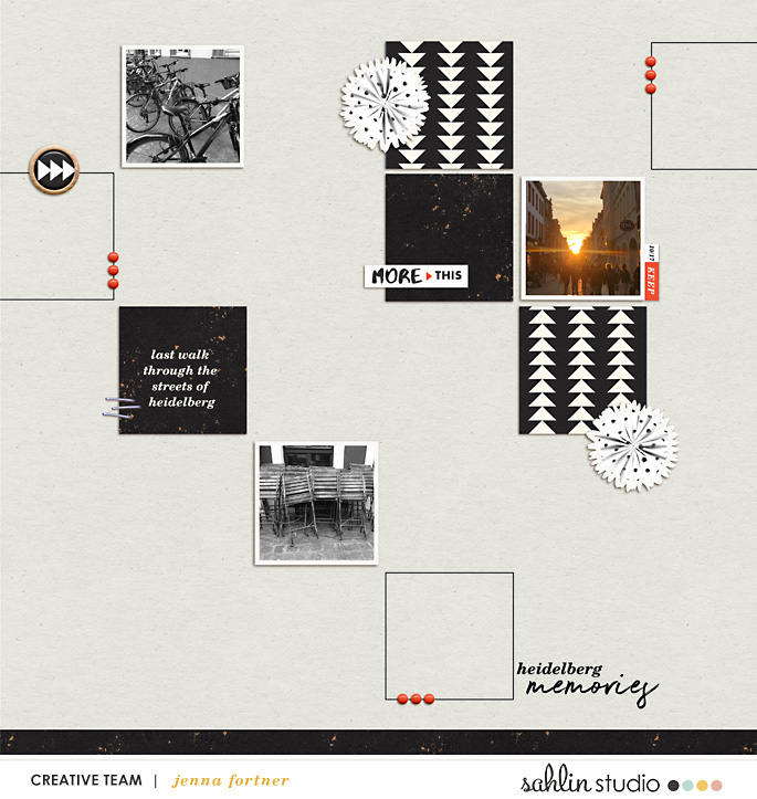 digital scrapbooking layout created by Jenna featuring Simplify by Sahlin Studio