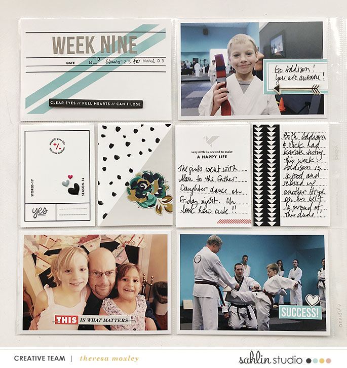 hybrid scrapbooking layout created by larkindesign featuring Simplify by Sahlin Studio