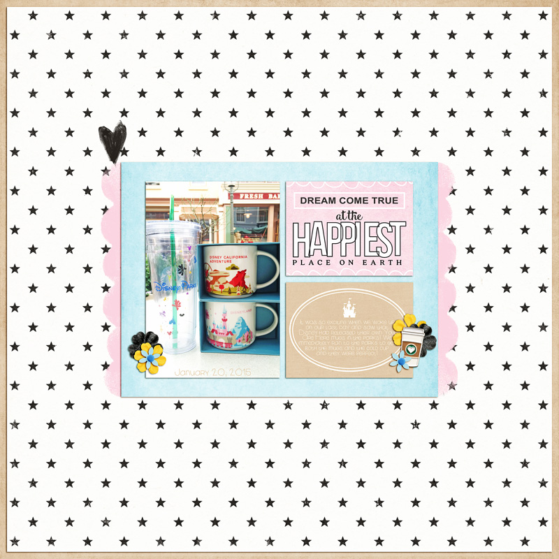 Dreams Come True at the Happiest Place on Earth - Disney shopping Souvenirs scrapbook page Project Mouse (Main Street) Artsy and Enamel Pins by Britt-ish Designs and Sahlin Studio