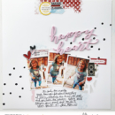 Happy Heart scrapbook hybrid page Project Mouse (Main Street) Artsy and Enamel Pins by Britt-ish Designs and Sahlin Studio