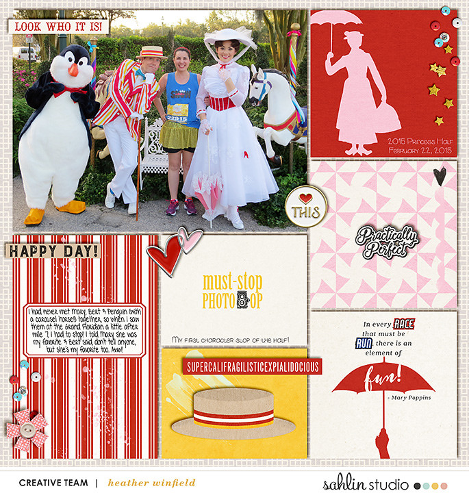 Disney Mary Poppins scrapbook Project Life page Project Mouse (Main Street) Artsy and Enamel Pins by Britt-ish Designs and Sahlin Studio