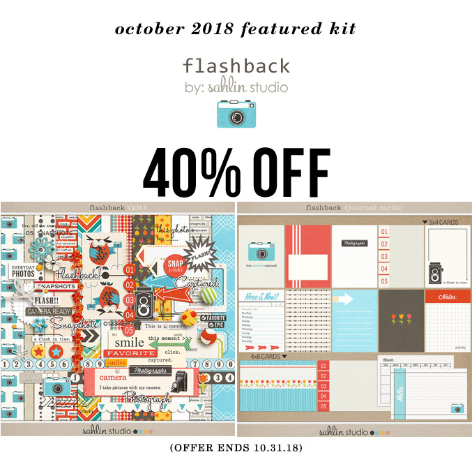 Flashback by Sahlin Studio - October 2018 Featured Products