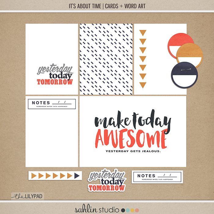 It's About Time – Cards and Word Art | TLP Blog Hop