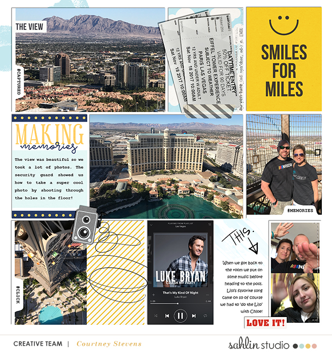 Smiles for Miles Happy digital Project Life scrapbook page Snapshots Photo Templates by Sahlin Studio