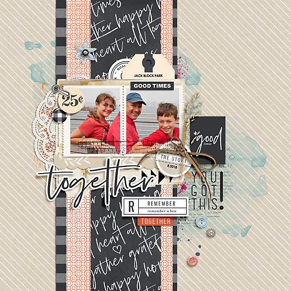 Good Times Together digital scrapbook page using Gather | Kit and Journal Cards by Sahlin Studio
