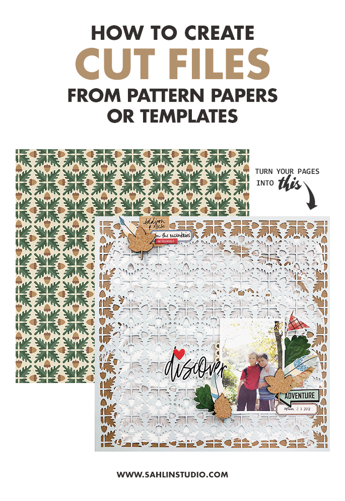 How to Create Cut Files from Pattern Papers or Templates