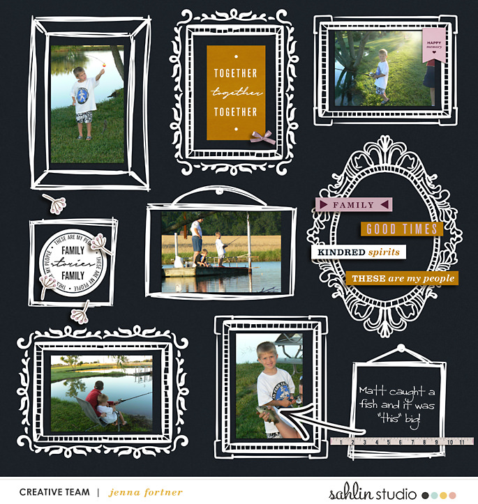 layout created by jenna featuring Kindred by Sahlin Studio