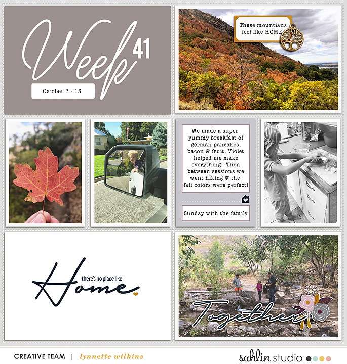 layout created by lynnette featuring Kindred by Sahlin Studio