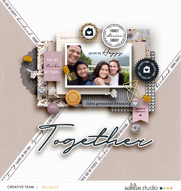 FREE Digital Scrapbooking Template / Sketch – November 2018