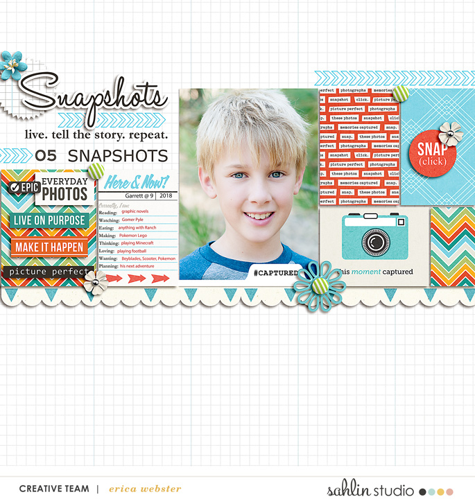 FREE Digital Scrapbooking Template / Sketch – October 2018