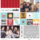 New Years Day Movies digital Project Life scrapbooking layout using Project Mouse (Movies) by Britt-ish Designs and Sahlin Studio