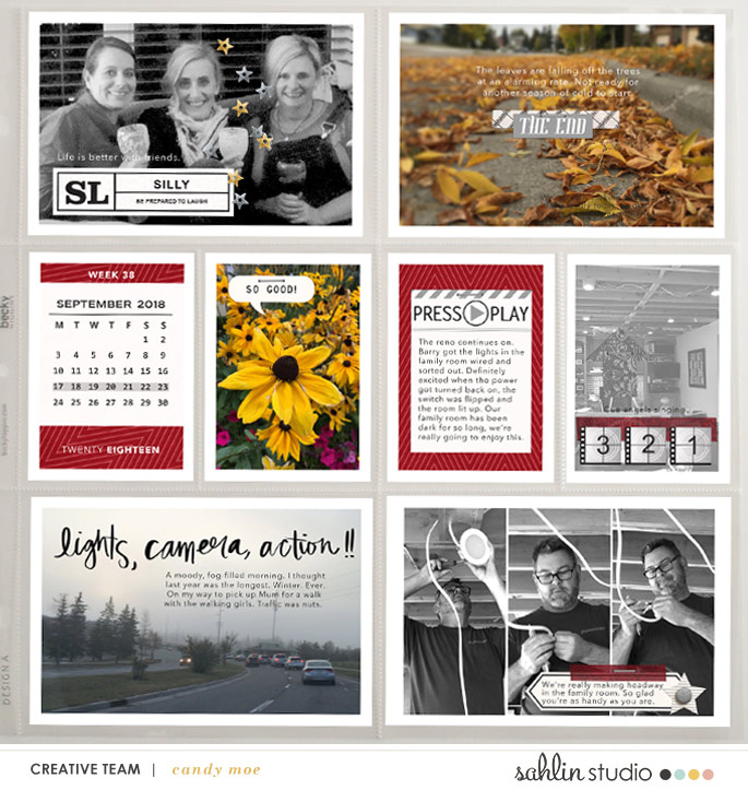 Lights Camera Action digital Project Life scrapbooking layout using Project Mouse (Movies) by Britt-ish Designs and Sahlin Studio