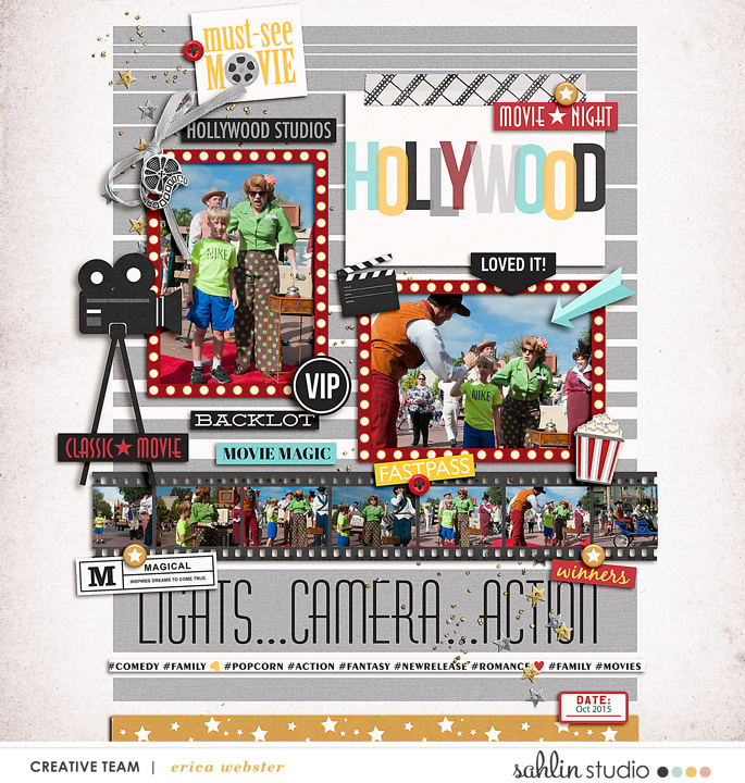 Disney Hollywood Studios Citizens of Hollywood digital scrapbooking layout using Project Mouse (Movies) by Britt-ish Designs and Sahlin Studio