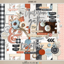 Gather (Kit) by Sahlin Studio - Good to scrapbook any fall, autumn, thanksgiving, or group gatherings.