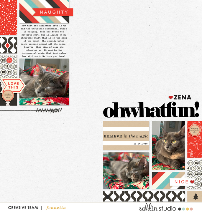 digital scrabooking layout created by fonnetta featuring December 2018 FREE Template by Sahlin Studio