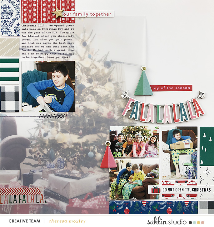 hybrid scrabooking layout created by larkindesign featuring December 2018 FREE Template by Sahlin Studio