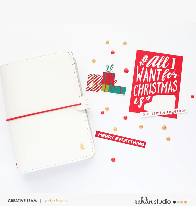 December Daily Printables using the Home for the Holidays collection by Sahlin Studio - Perfect for Christmas!