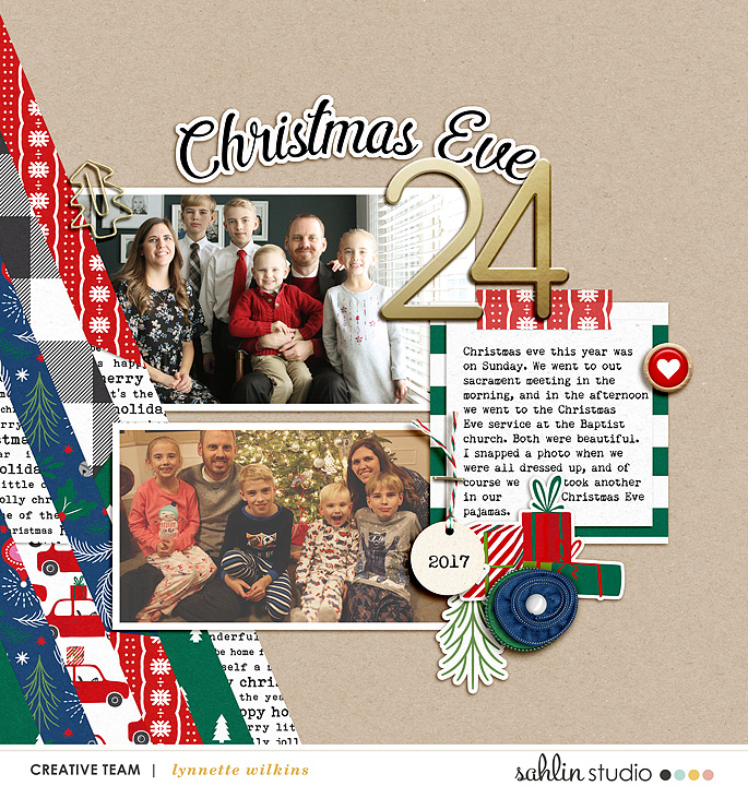 Christmas Eve digital scrapbook page Home for the Holidays collection by Sahlin Studio - Perfect for Documenting Your December (DYD) or your Christmas!